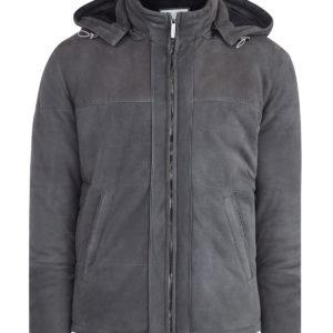 Замшевая куртка на утепленной шерстяной подкладке MORESCHI Италия