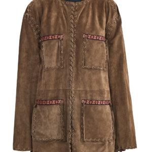 Куртка из замши с отделкой в этническом стиле и расшитой тесьмой ETRO Италия