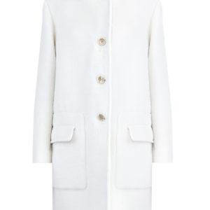 Пальто прямого кроя из фактурной шерсти альпаки ETRO Италия