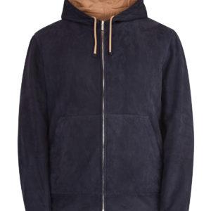 Двусторонняя куртка в стиле толстовок Active из нубука и нейлона BRUNELLO CUCINELLI Италия