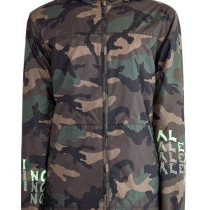 Ветровка с принтом ID Camouflage и аппликацией V for Valentino VALENTINO Италия