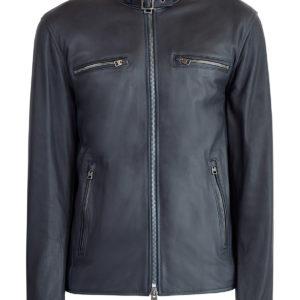 Куртка из матовой мелкозернистой кожи в байкерском стиле ETRO Италия