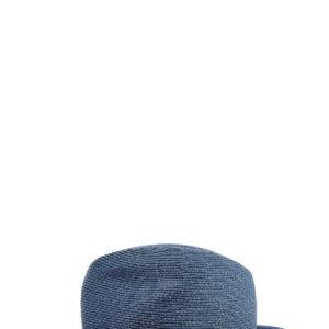 Шляпа оттенка денима с декором кожаной лентой MC2 SAINT BARTH Италия