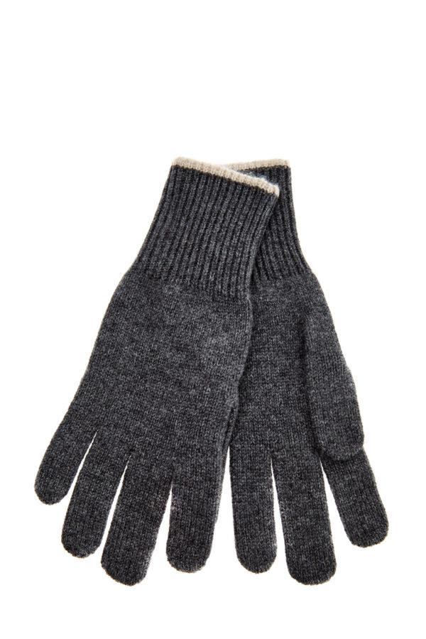 Кашемировые перчатки с контрастной окантовкой BRUNELLO CUCINELLI Италия