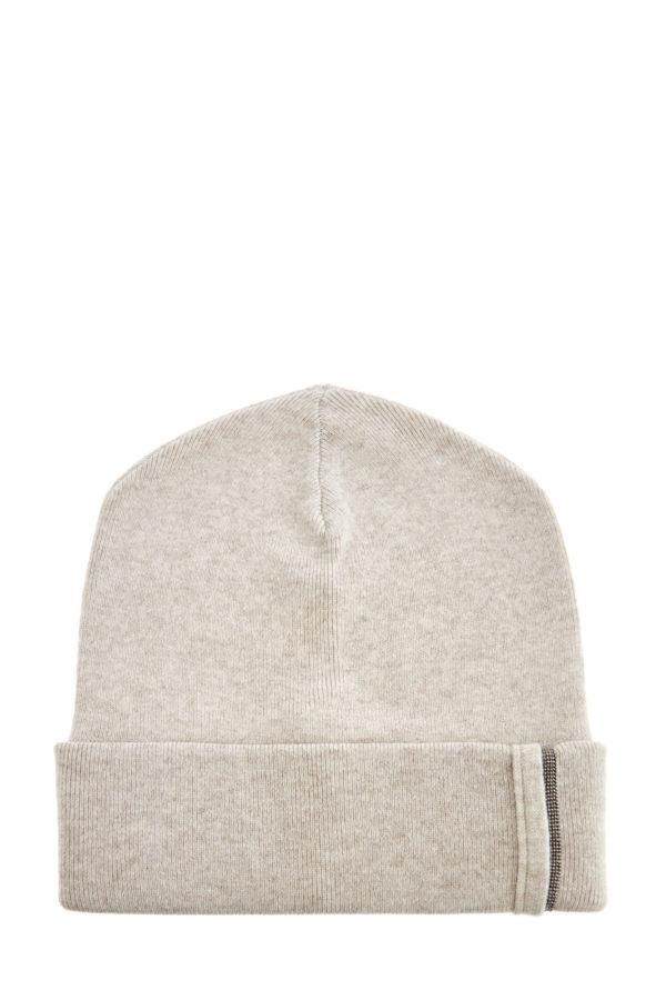 Фактурная шапка изкашемира сшироким отворотом ицепочкой Мониль BRUNELLO CUCINELLI Италия