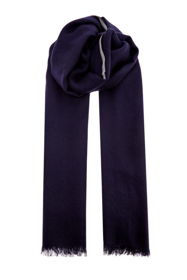 Лаконичный шарф из кашемира сконтрастной окантовкой BRUNELLO CUCINELLI Италия