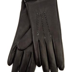 Перчатки из кожи наппа с объемными швами ручной работы ERMANNO SCERVINO Италия