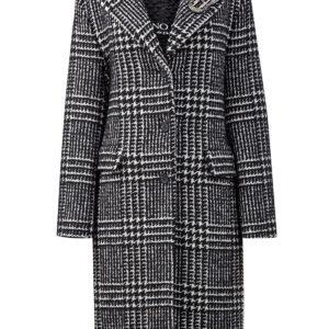 Пальто из шерстяного драпа с брошью из кристаллов ERMANNO SCERVINO Италия
