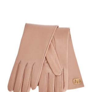 Перчатки из кожи наппа с литым логотипом VLOGO Signature VALENTINO GARAVANI Италия