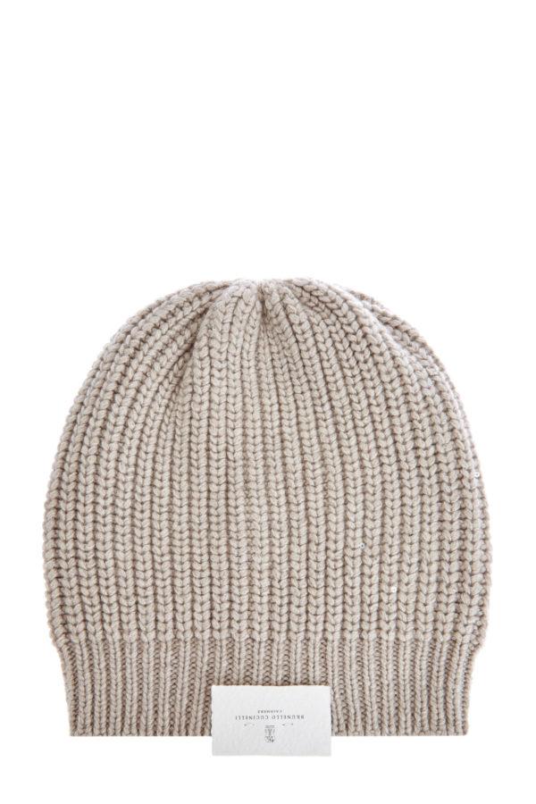 Кашемировая шапка с шелковой нитью и миниатюрными пайетками BRUNELLO CUCINELLI Италия