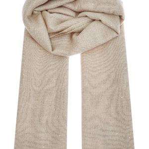 Кашемировый шарф сшелковой нитью Diamante ивплетенными вручную пайетками BRUNELLO CUCINELLI Италия