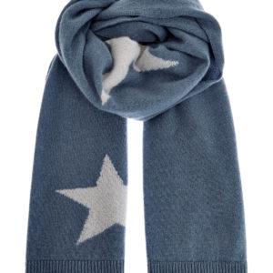 Кашемировый шарф ручной работы синтарсийным узором ввиде звезд LORENA ANTONIAZZI Италия