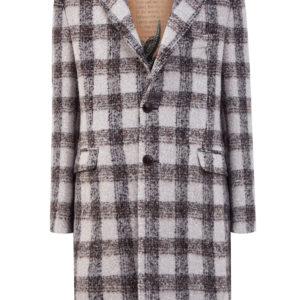 Драповое пальто из шерсти альпака в клетку ETRO Италия