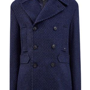 Шерстяное пальто со съемным воротом в стиле многослойности ETRO Италия