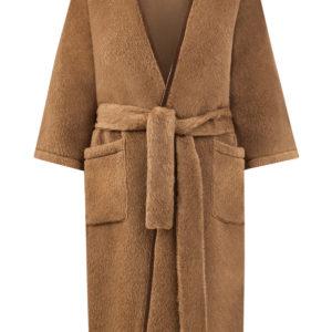 Пальто кроя на запах из шерсти альпака с поясом ETRO Италия