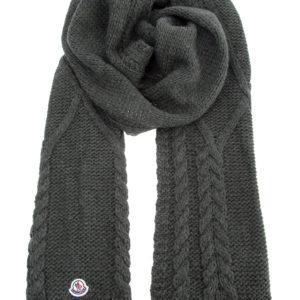 Теплый шарф из пряжи на основе шерсти альпаки плотностью 3 gg MONCLER Италия