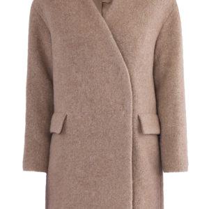 Короткое двубортное пальто из фактурной шерсти альпаки ALEXANDER TEREKHOV Россия
