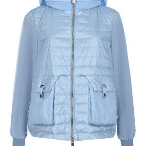 Голубая стеганая куртка Diego M