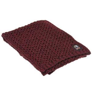 Вязаный бордовый шарф Parajumpers