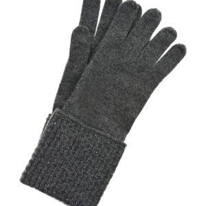 Серые перчатки из кашемира с кристаллами Swarovski William Sharp