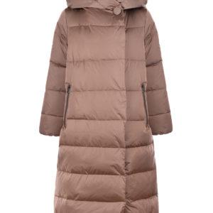 Бежевое пальто с капюшоном Freedomday