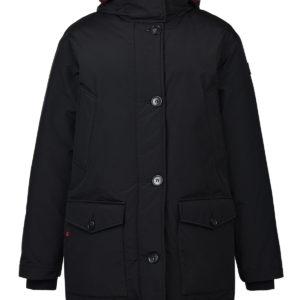 Черная двухстороняя куртка-парка Woolrich