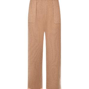 Бежевые кашемировые брюки Allude