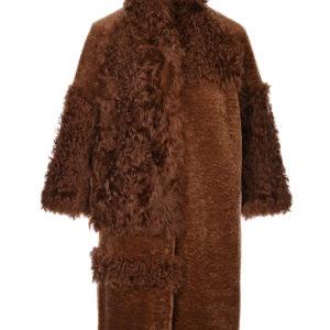 Пальто изкомбинированного меха Diego M