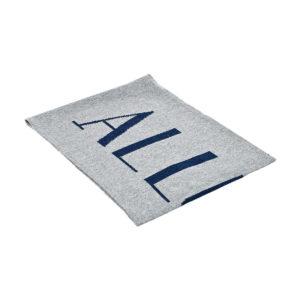 Серый кашемировый шарф с логотипом Allude