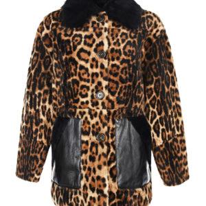 Укороченное пальто с контрастными карманами Yves Salomon