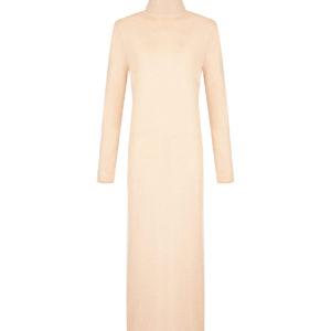 Бежевое платье из кашемира Allude