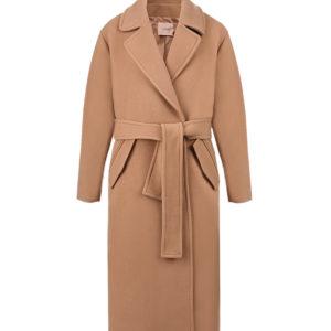 Бежевое пальто oversize TWINSET