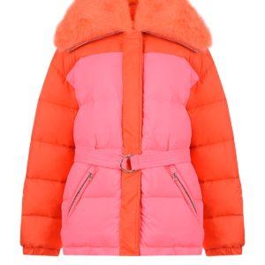 Двухцветная куртка Yves Salomon