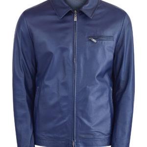 Двусторонняя куртка из кожи и водонепроницаемого нейлона CANALI Италия