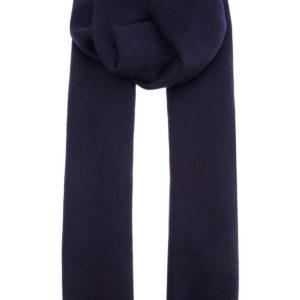 Лаконичный мужской шарф из кашемира темного сапфирового оттенка BRUNELLO CUCINELLI Италия
